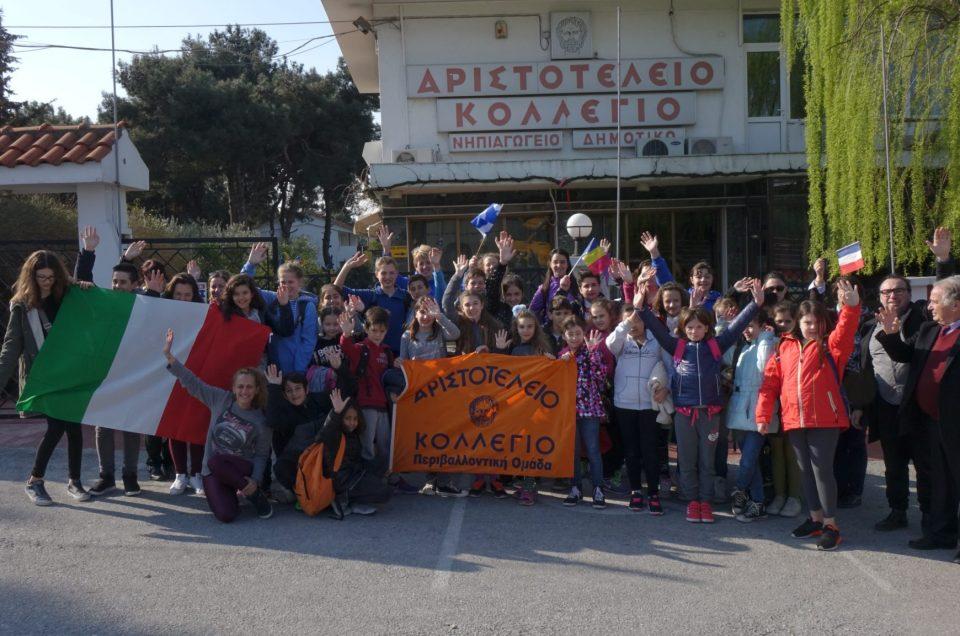 Erasmus+: Μαθητές από Ιταλία, Γαλλία, Μ. Βρετανία και Ρουμανία στο Αριστοτέλειο Κολλέγιο