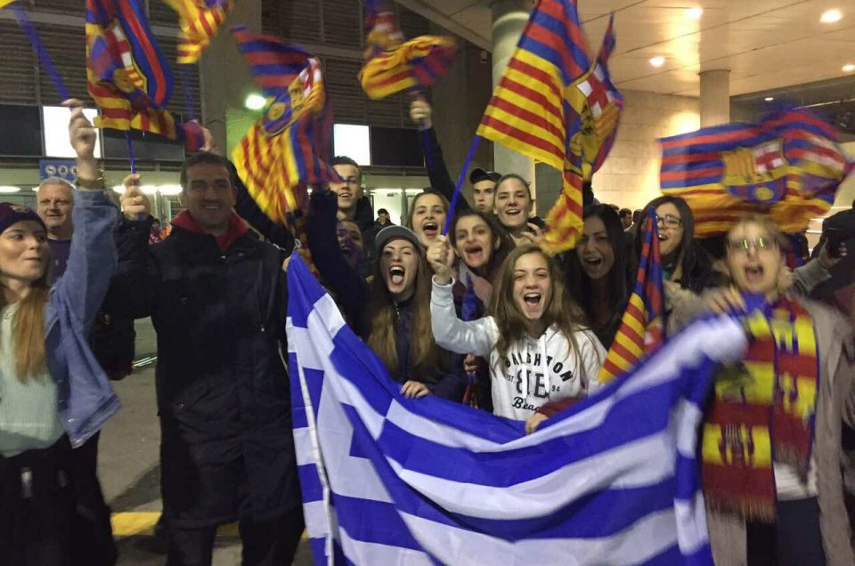 Φίλαθλοι μαθητές μας στον αγώνα της χρονιάς στη Βαρκελώνη