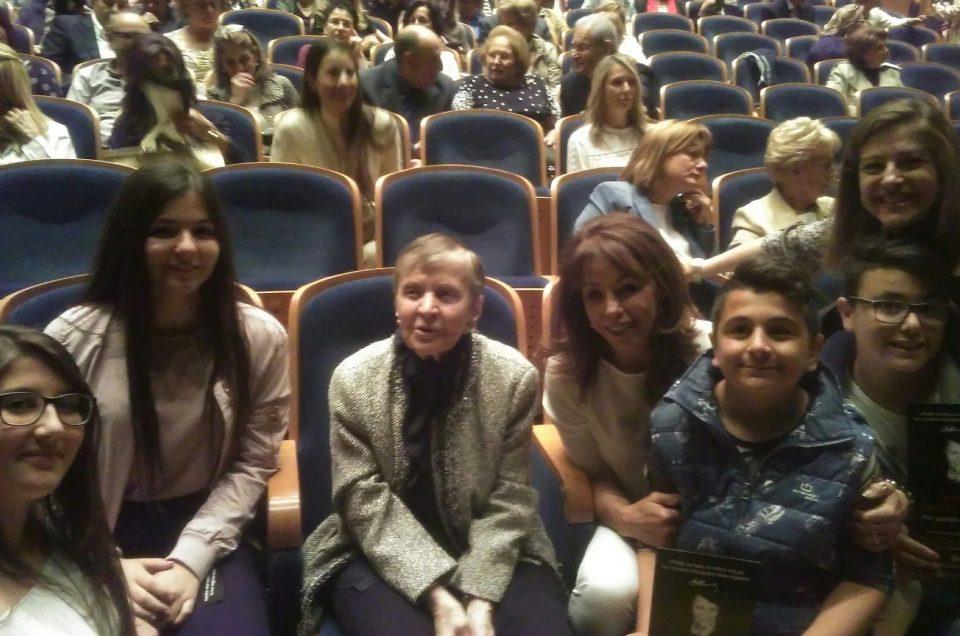 Πολιτιστική εκδήλωση προς τιμήν της κ. Αρβελέρ στο Μέγαρο Μουσικής Θεσσαλονίκης