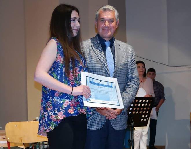 Βραβεύτηκε η μικρή συγγραφέας μας Χριστίνα Λιάμου